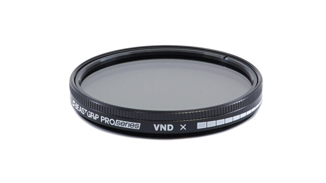 The Beastgrip Pro Series 58mm VND Filter