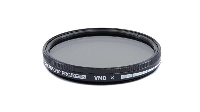 The Beastgrip Pro Series 58mm VND Filter