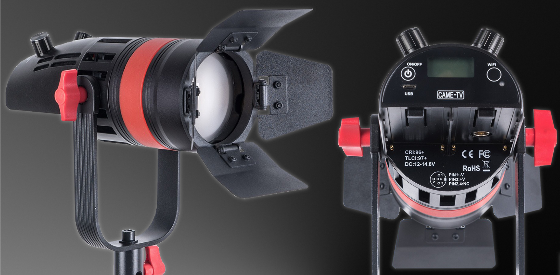 Presentaron la nueva Boltzen Q-55S Mini Bi-Color Fresnel LED de CAME-TV