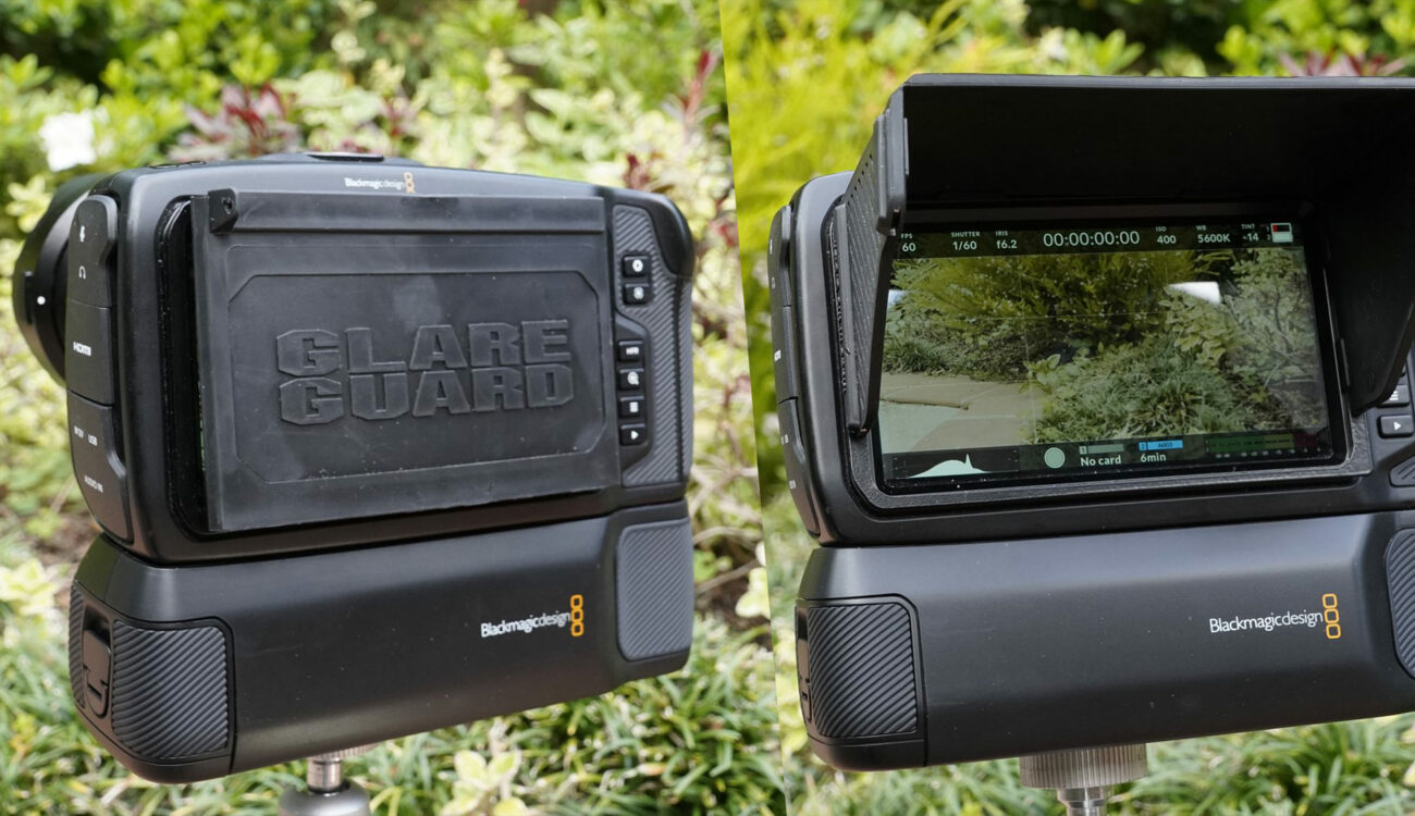 Ocean Video GlareGuard 5.0 for BMPCC 4K and 6K - Foldable Sunshade