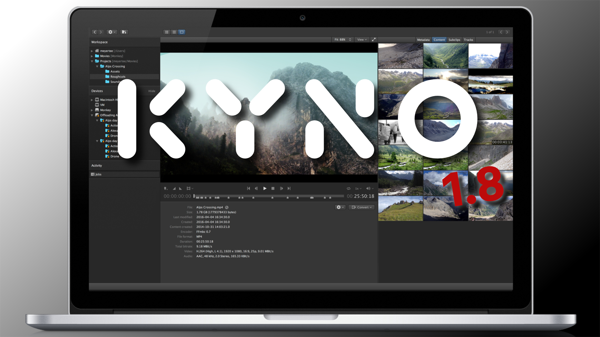 Presentaron el Kyno 1.8 - Blackmagic RAW y resolución e integración Avid