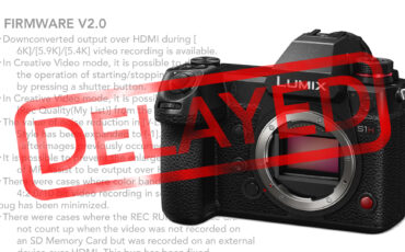 Panasonic S1H RAW Video Output Delayed, Firmware 2.0 Still Coming
