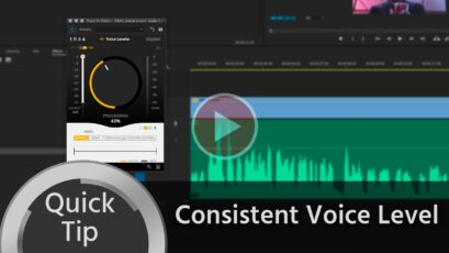Quick Tip: How to Get a Consistent Voice Level When Editing Interviews