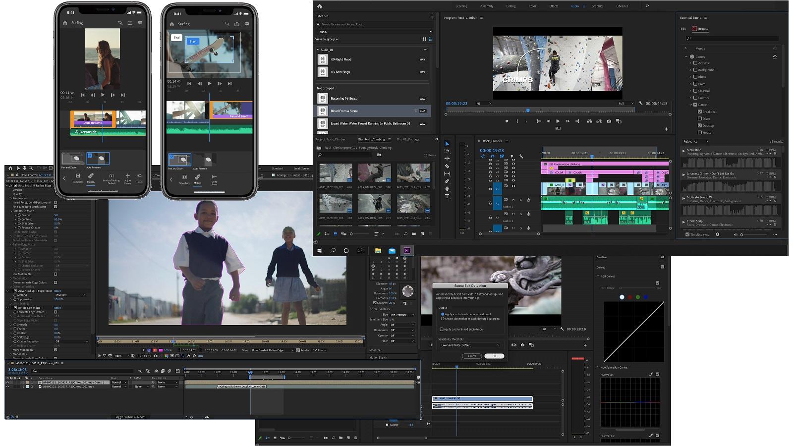 Actualizaciones para la aplicación de video y audio Adobe Creative Cloud y Adobe Stock en Premiere Pro
