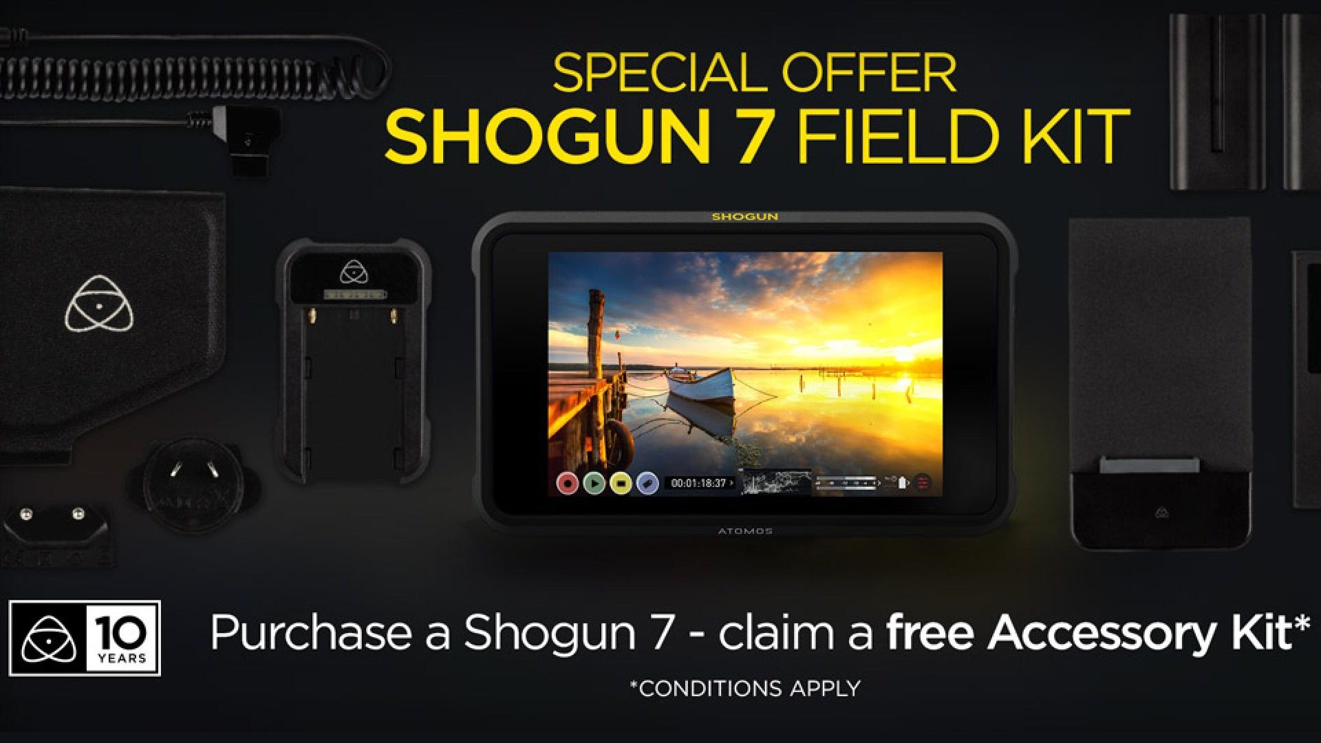Kit de accesorios gratuito para el Shogun 7 de Atomos - Oferta especial de aniversario