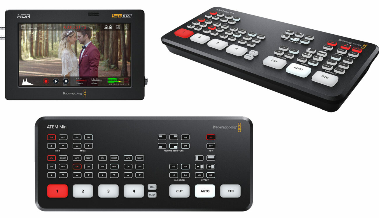 Blackmagic Design Updates Atem Switchers And Video Assist 12g Cined
