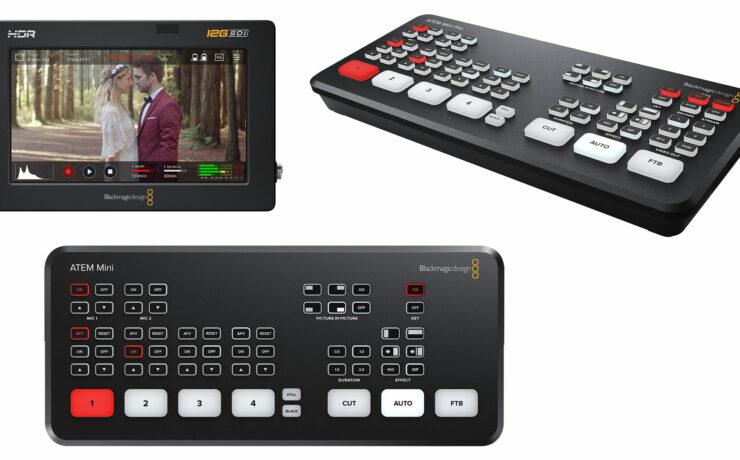 Blackmagic Design Updates ATEM Switchers and Video Assist 12G