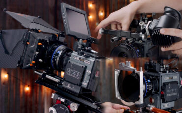 Bright Tangerine Misfit Kick Matte Box, Rota Pola Diopter Filter Tray and EVF Mount Prototype