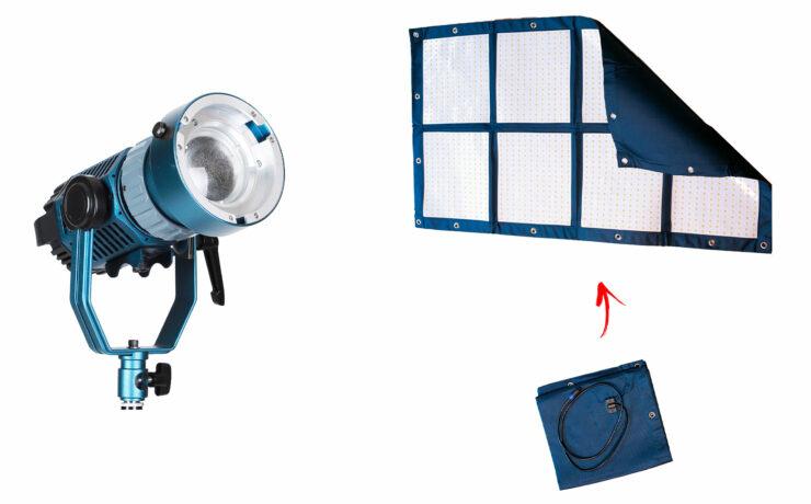 Intellytech Light Cannon X-100 and MEGA-LiteCloth LED Lights