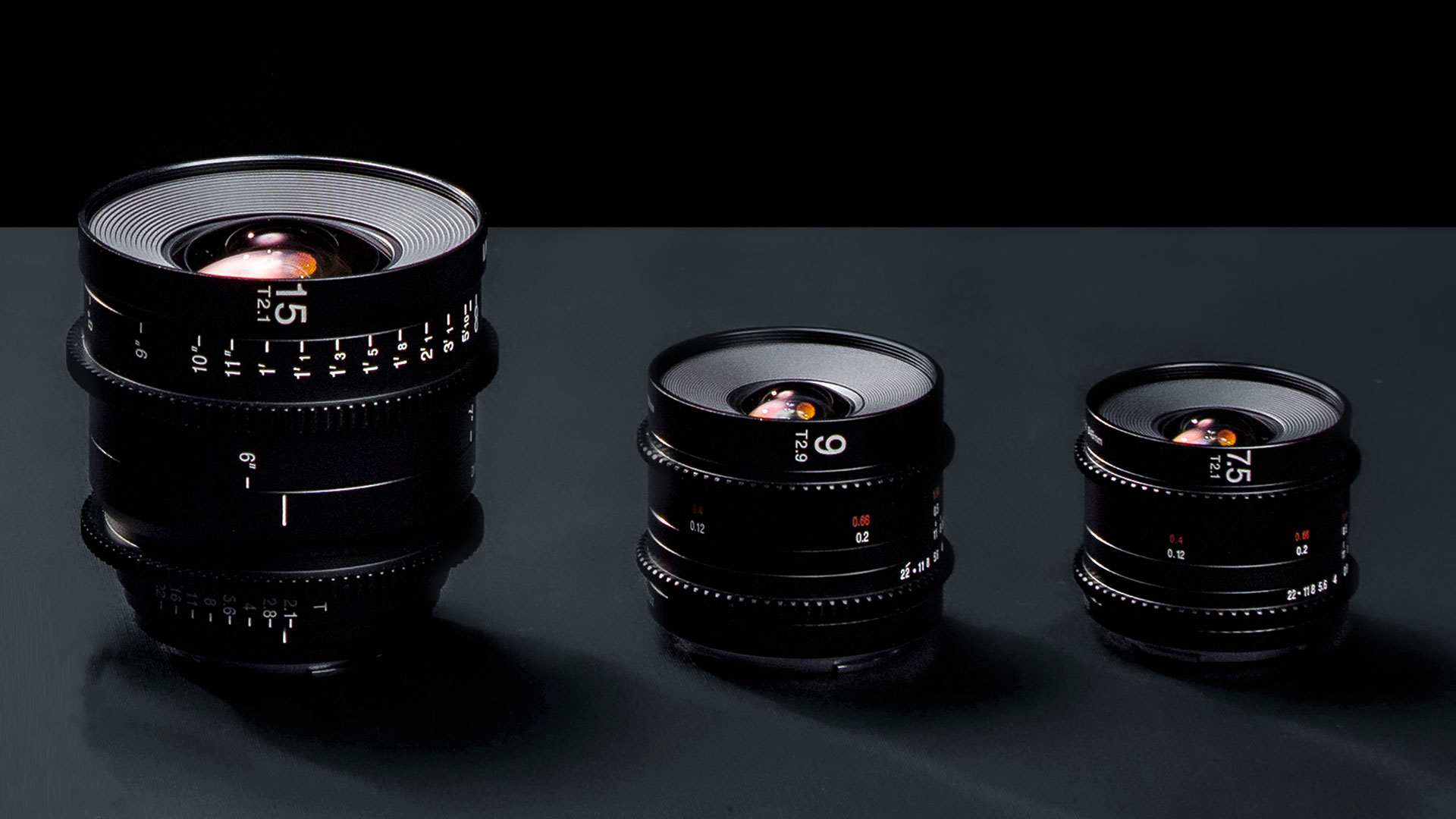 Anunciaron lentes de cine Laowa 7.5 mm T2.1, 9 mm T2.9 Zero-D y 15 mm T2.1 Zero-D