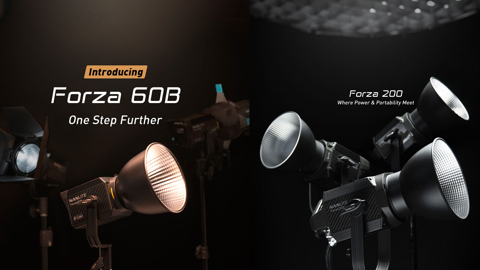Anuncian las luces LED NANLITE Forza 60B y Forza 200