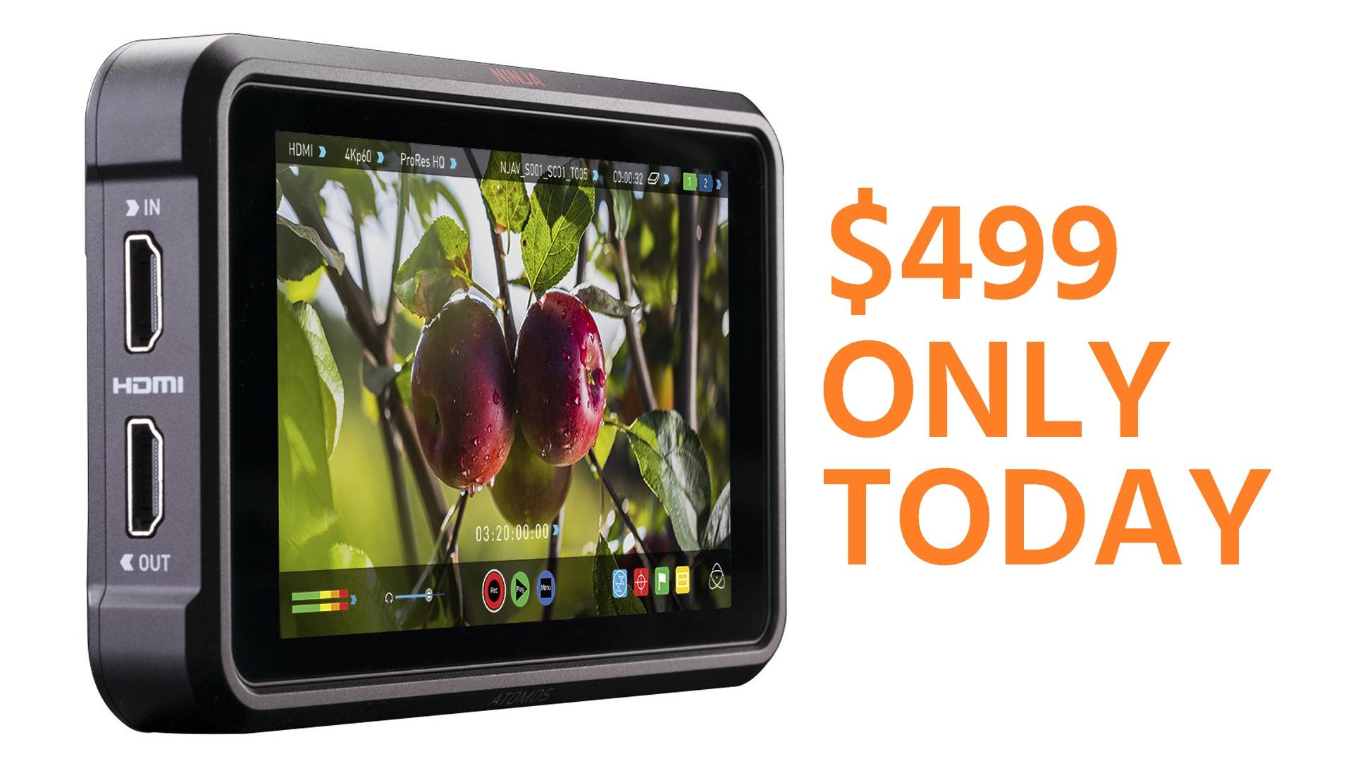Oferta especial Atomos Ninja V – Sólo por hoy a $499 (descuento de $196)