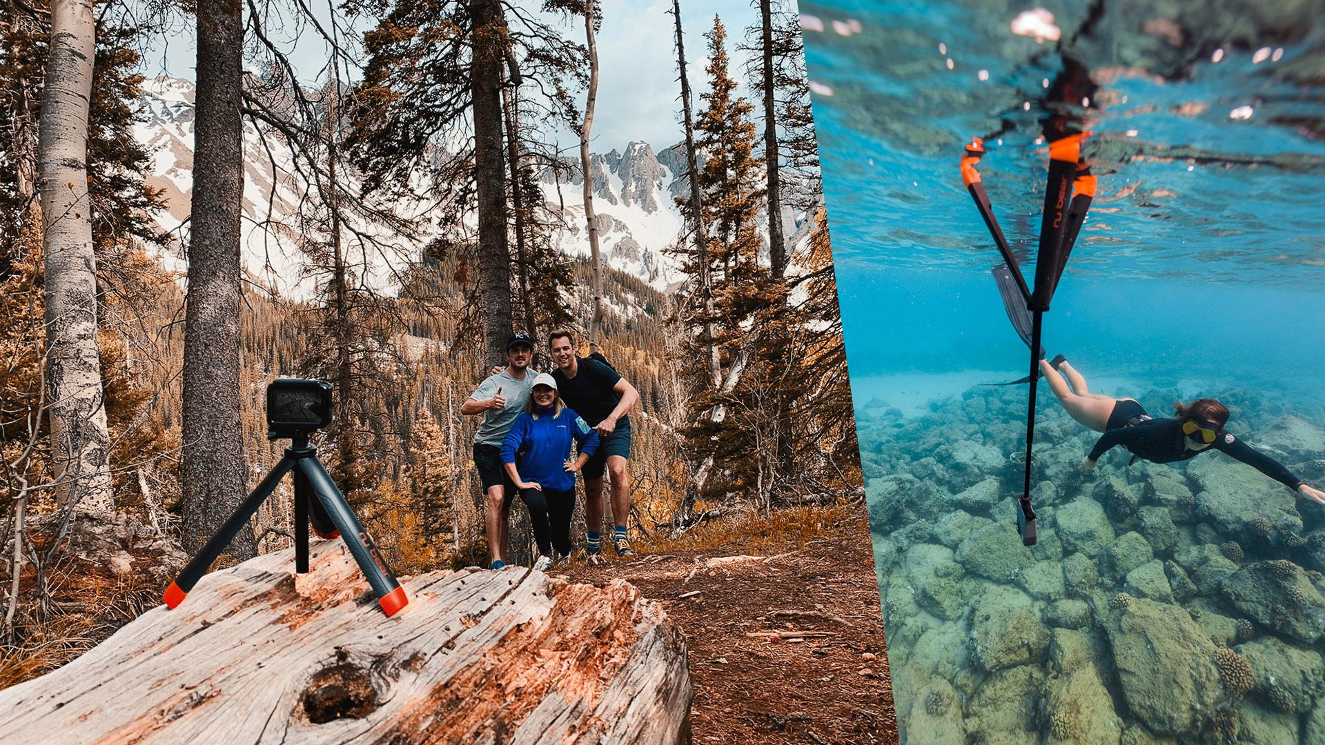 Nu Grip - 水に浮くアクションカメラ用三脚グリップ