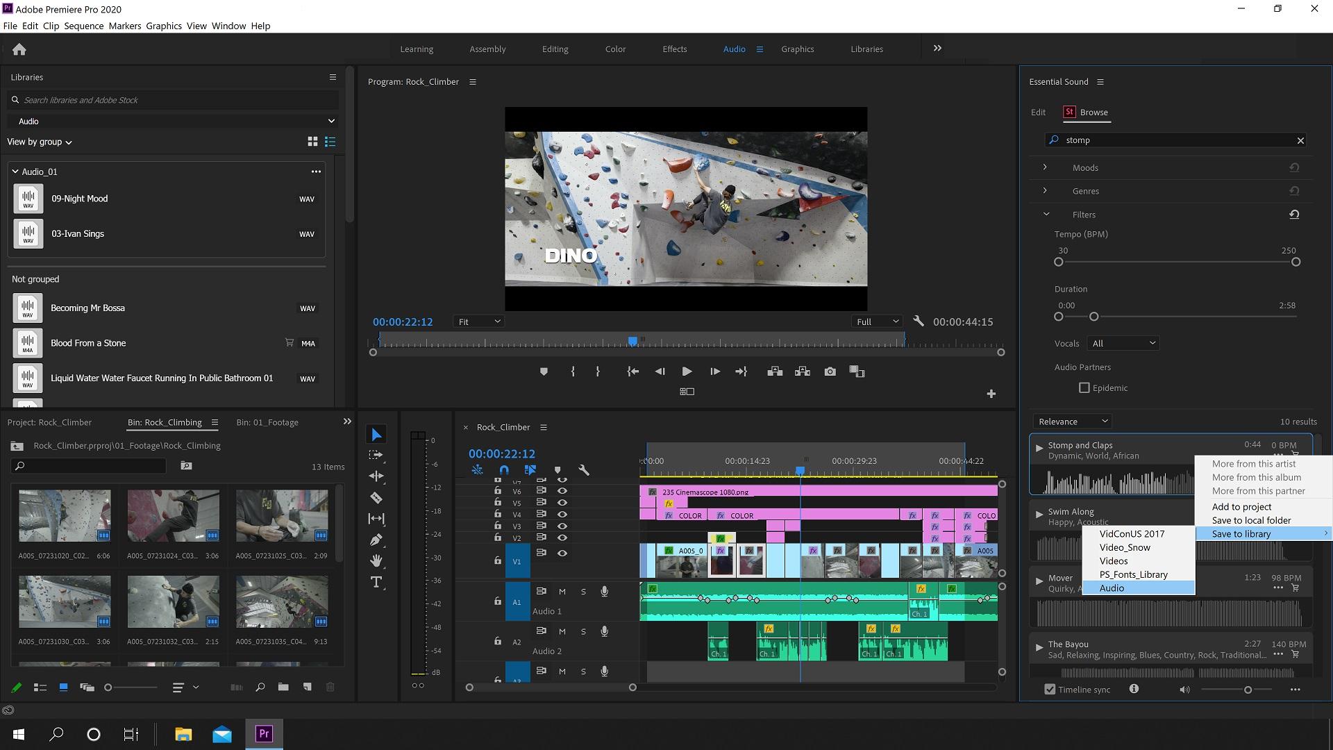 Adobe Creative Cloud Video Apps Updates Premiere Pro Stock Audio Cined