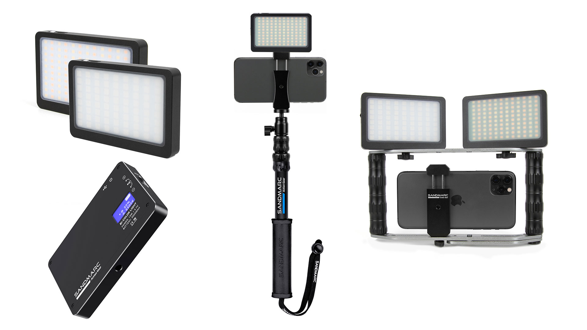 Nuevas luces LED Prolight RGB y Prolight Bi-color de SANDMARC para cineastas de smartphone