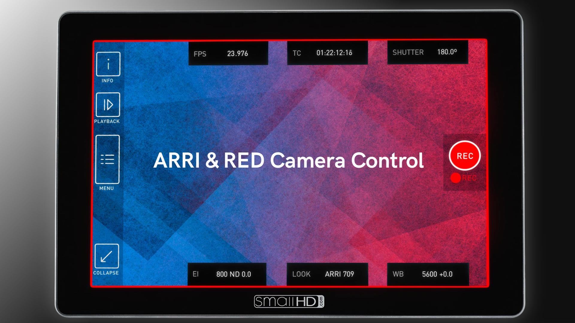 SmallHD Cine 7モニターにREDとARRIのコントロール機能が追加