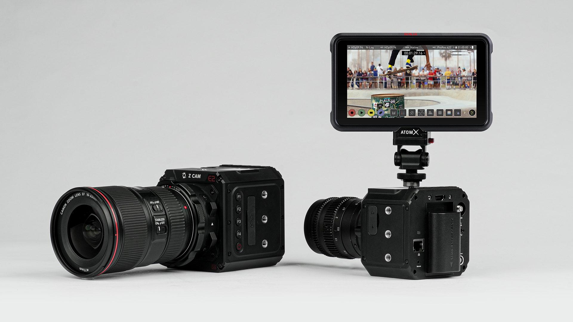 AtomosとZ CAMがE2シリーズカメラとNinja Vで5.8K/4K ProRes RAW記録を発表