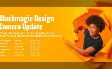 Blackmagic Design Camera Update Live Event - Today!