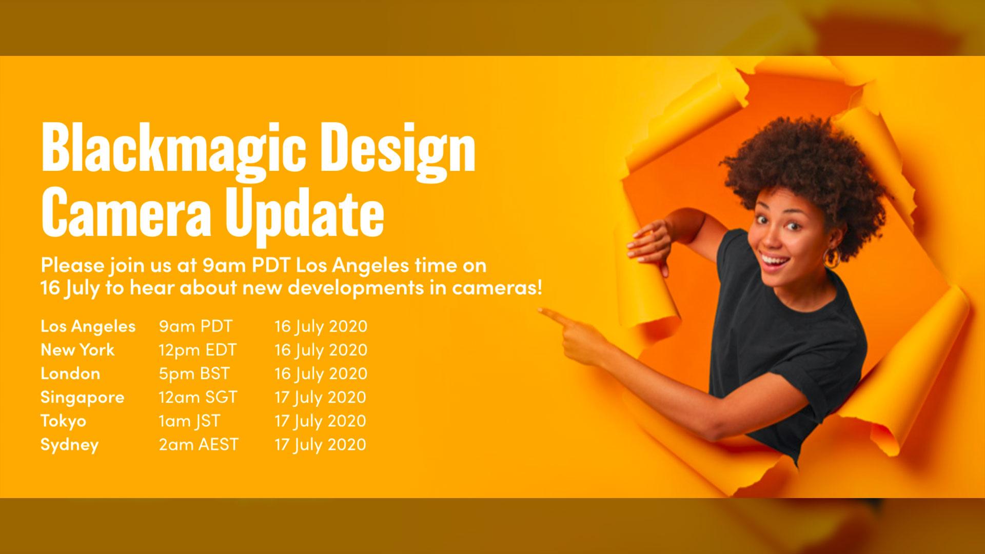 Evento en vivo de Blackmagic Design sobre las nuevas actualizaciones- ¡Es hoy!