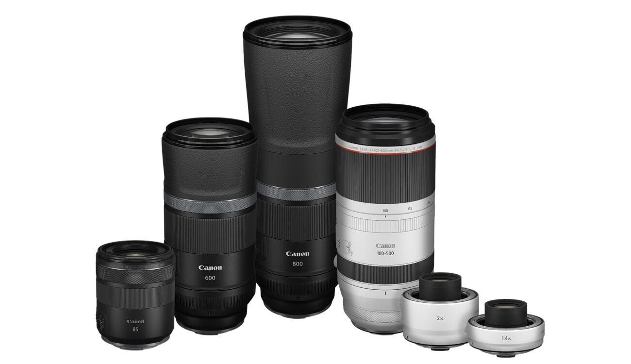 Canon Four New RF Lenses and Focal Length Extenders Announced