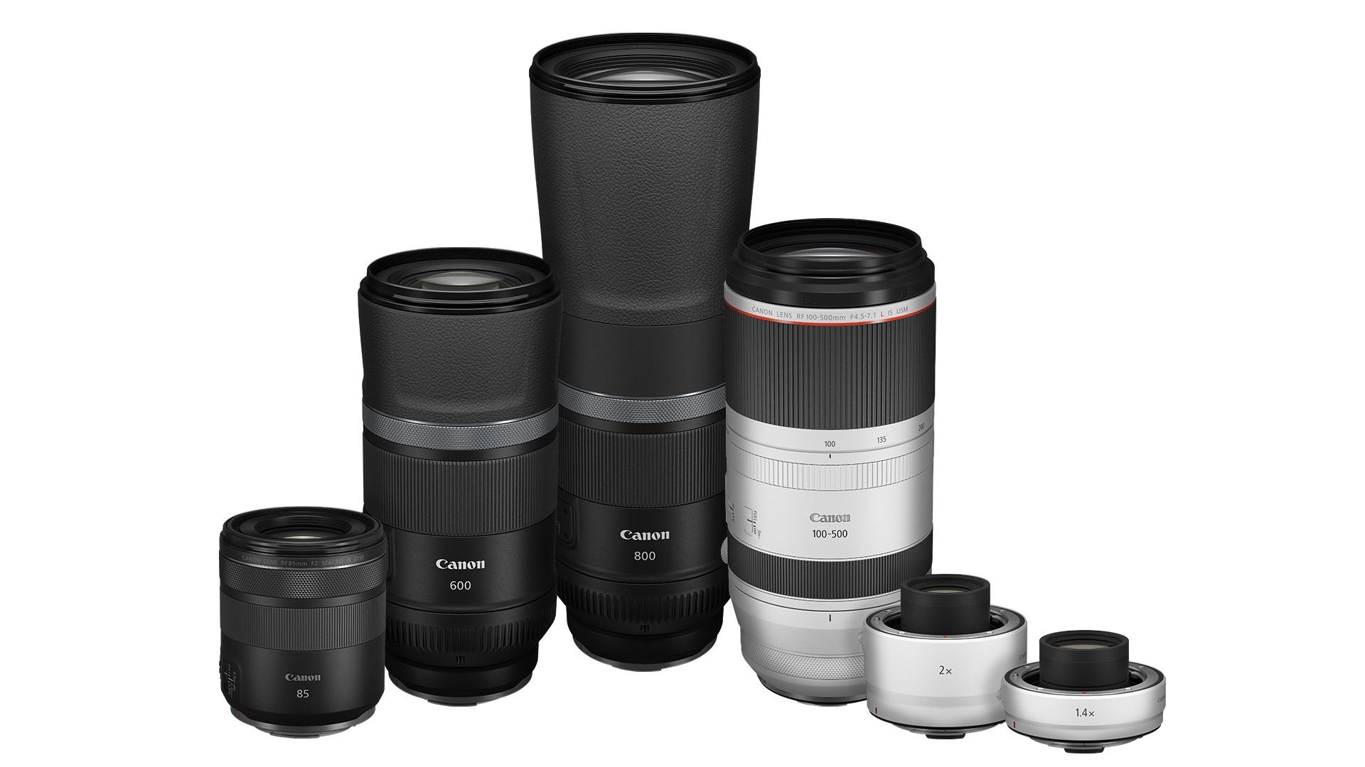 Canon anunció cuatro nuevos lentes RF y extensores de distancia focal