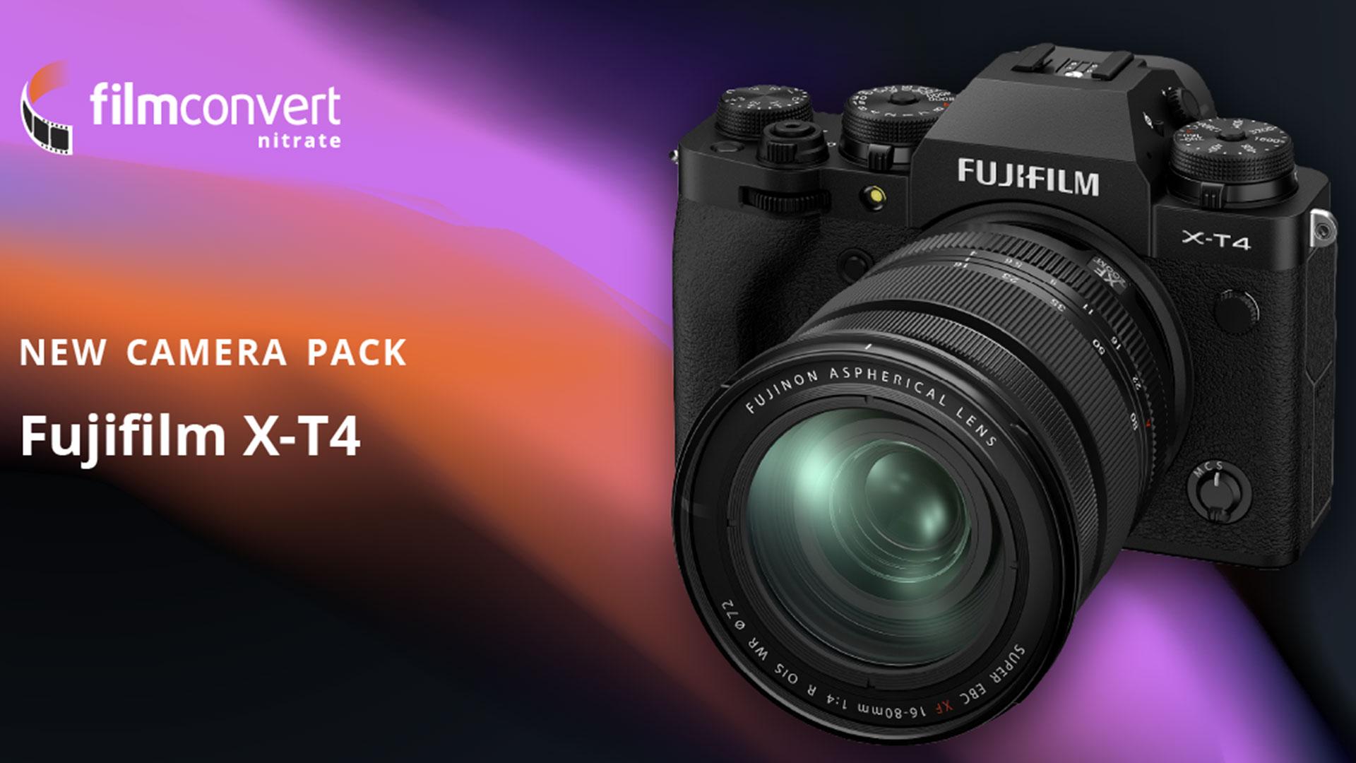 Ya está disponible el paquete de cámara de FilmConvert para la FUJIFILM X-T4