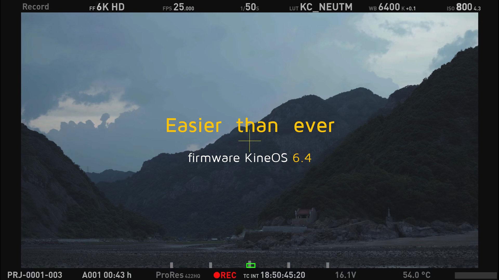 Actualización de firmware Kinefinity KineOS 6.4 - ProRes 4444 y 4444 XQ para la TERRA 4K