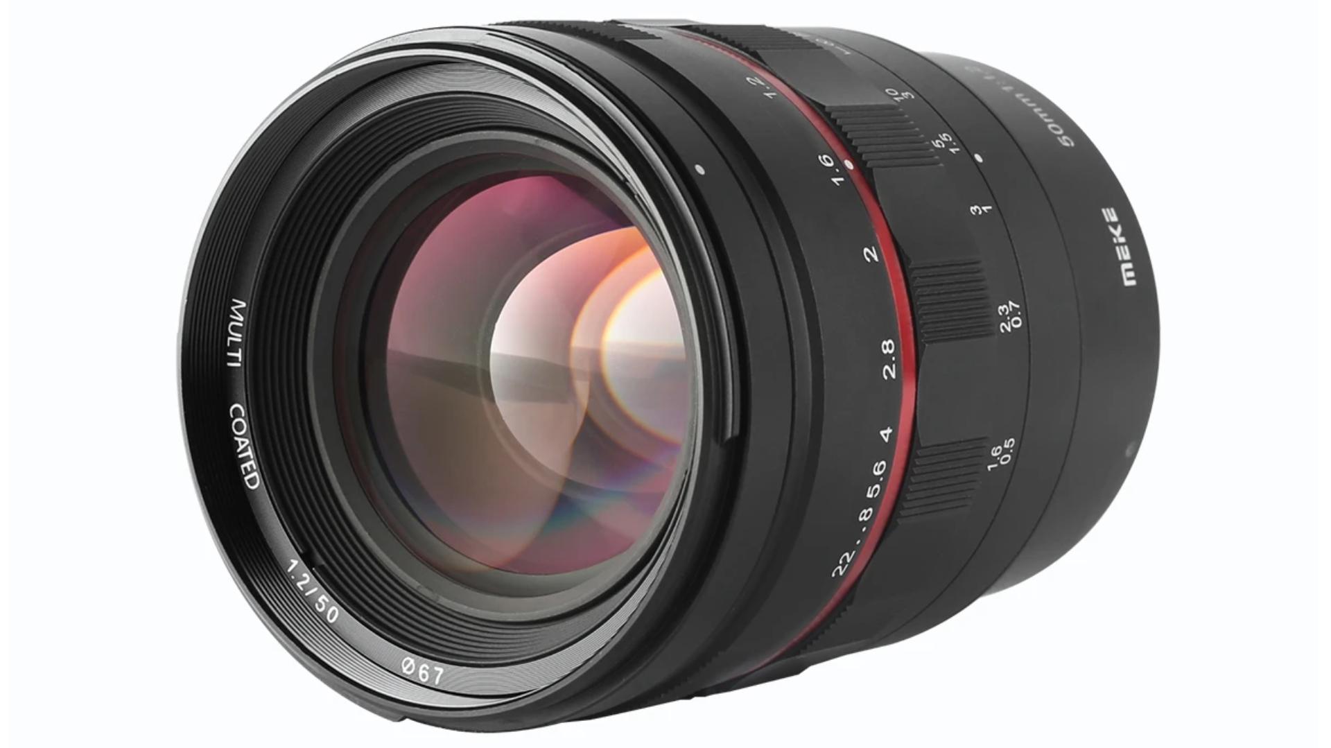 Nuevo lente prime Meike 50mm f/1.2  - Montura Canon RF y enfoque manual
