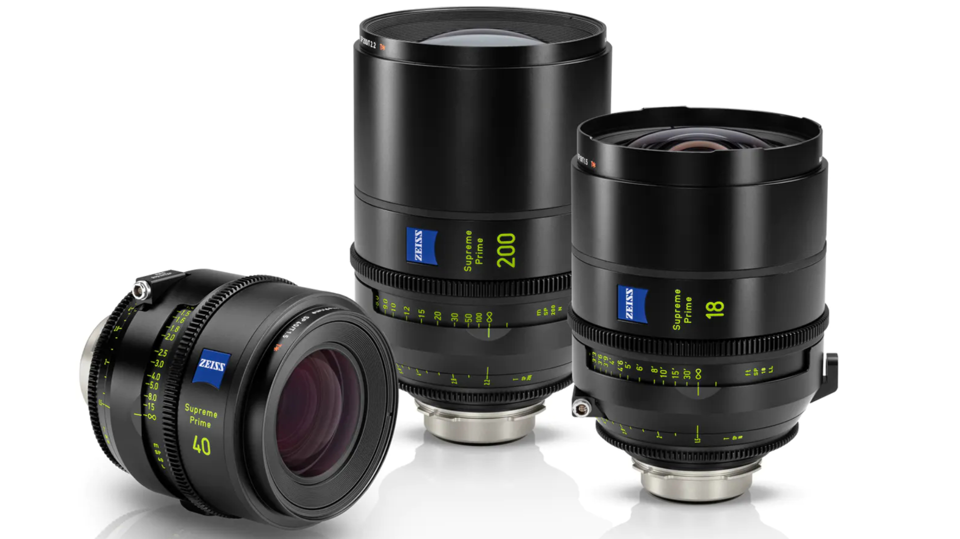 Lentes ZEISS Supreme Prime 18 mm T1.5, 40 mm T1.5 y 200 mm T2.2: la línea de alta gama continúa expandiéndose