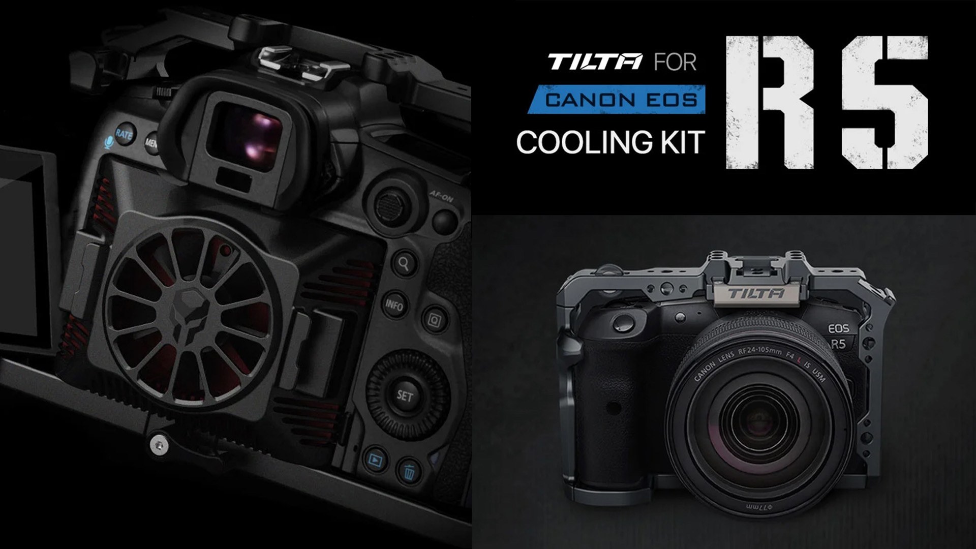 TiltaがEOS R5 Cooling Kitを発表