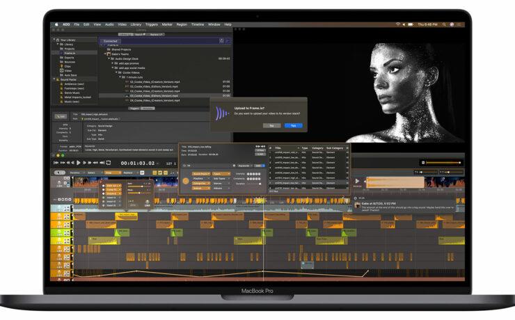 Audio Design Desk v1.3 adds Frame.io Integration