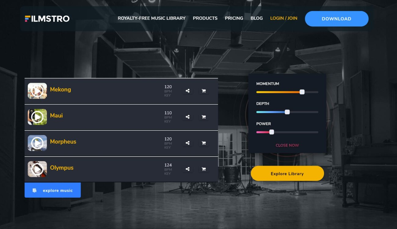 Filmstro - New Music Pages, Integrated Musical Endings and More