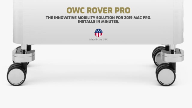 The OWC Rover Pro as a mobility solution for 2019 Mac Pro.