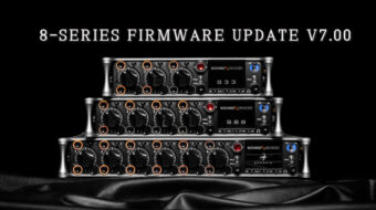 Sound Devices lanzó una importante actualización de firmware v7.00 para la serie 8