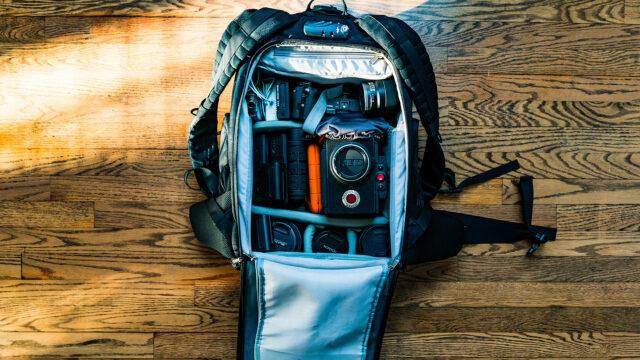 Camera bagpack