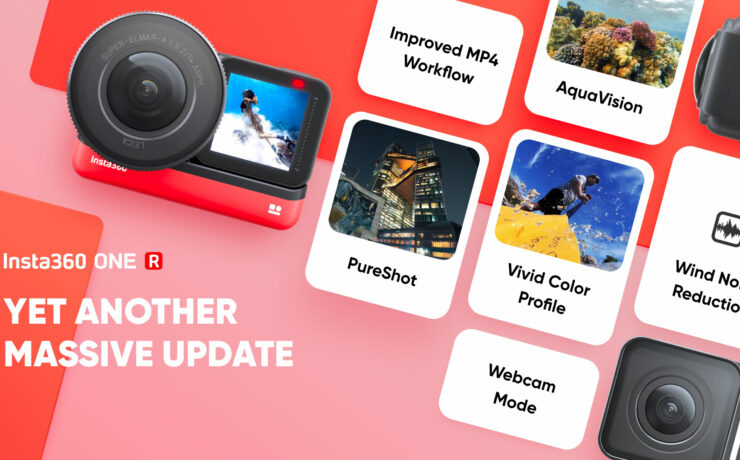 Insta360 ONE R Firmware Update v.1.2.16 - Better Image Quality and Webcam Mode
