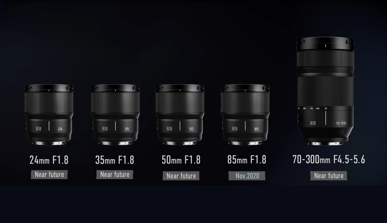 Panasonic Teases New L-Mount Lenses - 24, 35, 50, 85mm f/1.8 Primes and 70-300mm Zoom