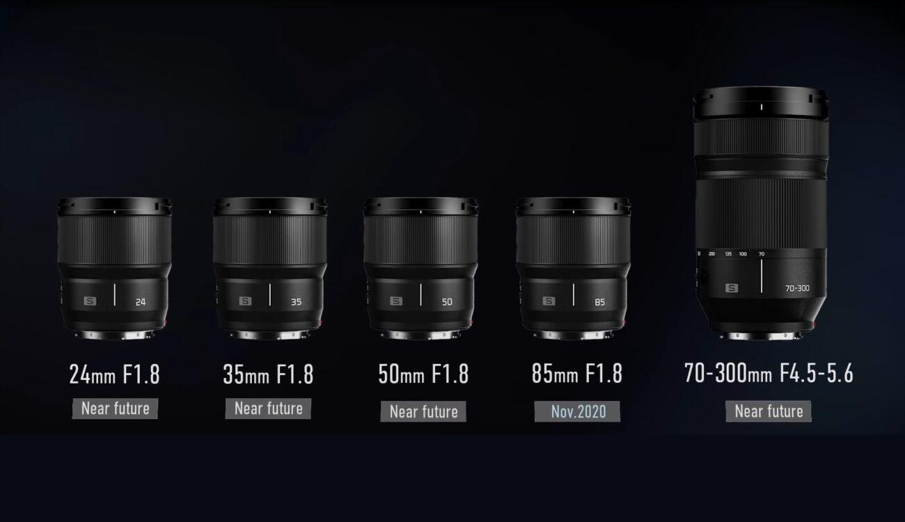 パナソニックがLマウントレンズを発表 - 24, 35, 50, 85mm f/1.8と70-300mm ズーム
