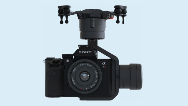 Sony a7R IV on the integrated Astro gimbal. Image Credit: Freefly Systems