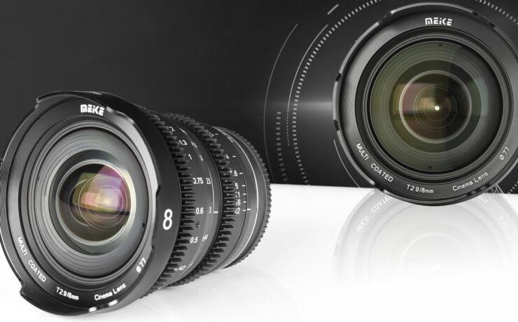 MEIKE 8mm T2.9 Cine Mini Prime Lens Announced