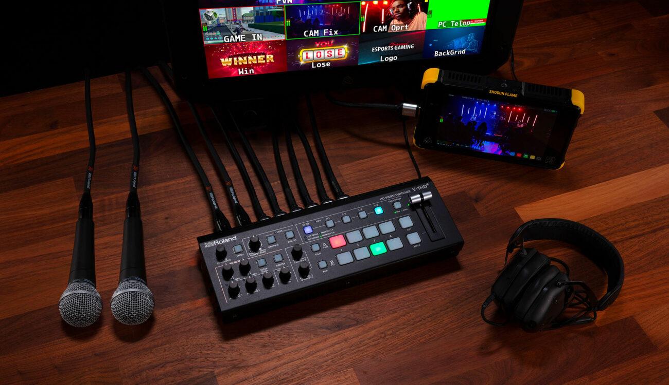 Lanzaron el conmutador de video Roland V-1HD+ HDMI
