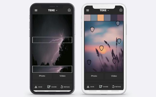 TEKE App for creating color schemes. Image Credit: TEKE
