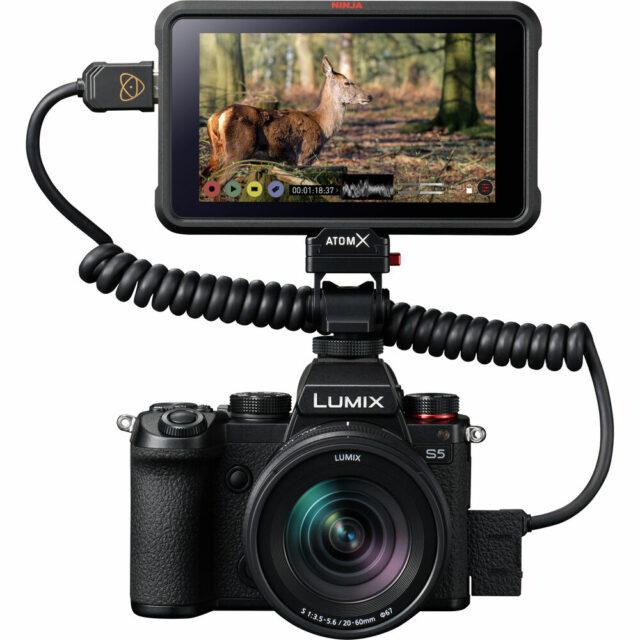 Panasonic LUMIX S5 with Atomos Ninja V HDMI recorder
