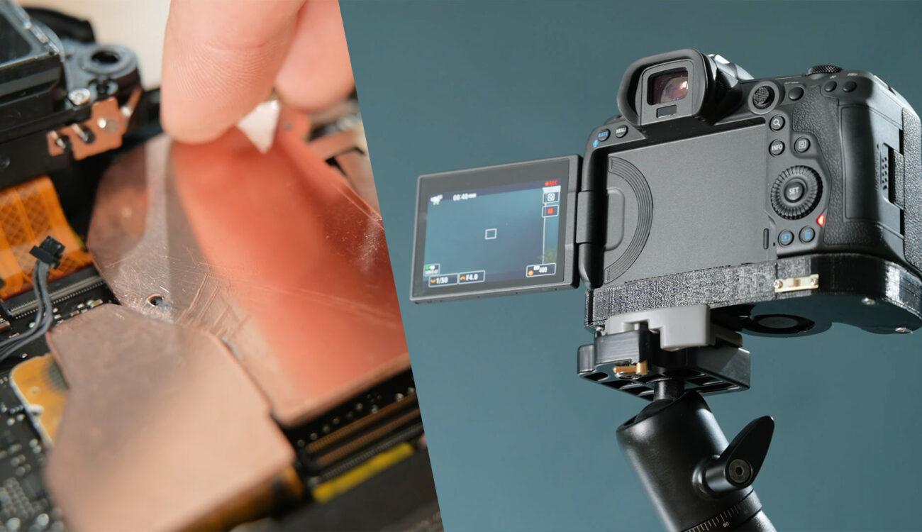¡Arreglado! El sobrecalentamiento de la Canon EOS R5 se solucionó con un disipador de calor interno casero