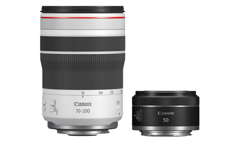 New Canon 50mm f/1.8 and 70-200mm f/4 RF-Mount Lenses Released