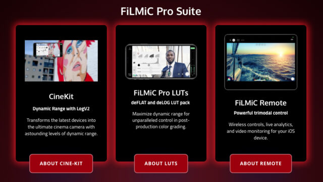 FiLMiC Pro Suite (Credits: FiLMiC Inc.)