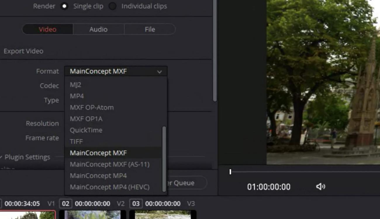 MainConcept Codec Plugin for DaVinci Resolve 17 Studio Launched