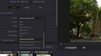 MainConcept Codec Plugin for DaVinci Resolve 17 Studio Launched