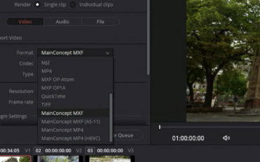 MainConcept lanza su Plugin de Codecs para DaVinci Resolve 17 Studio