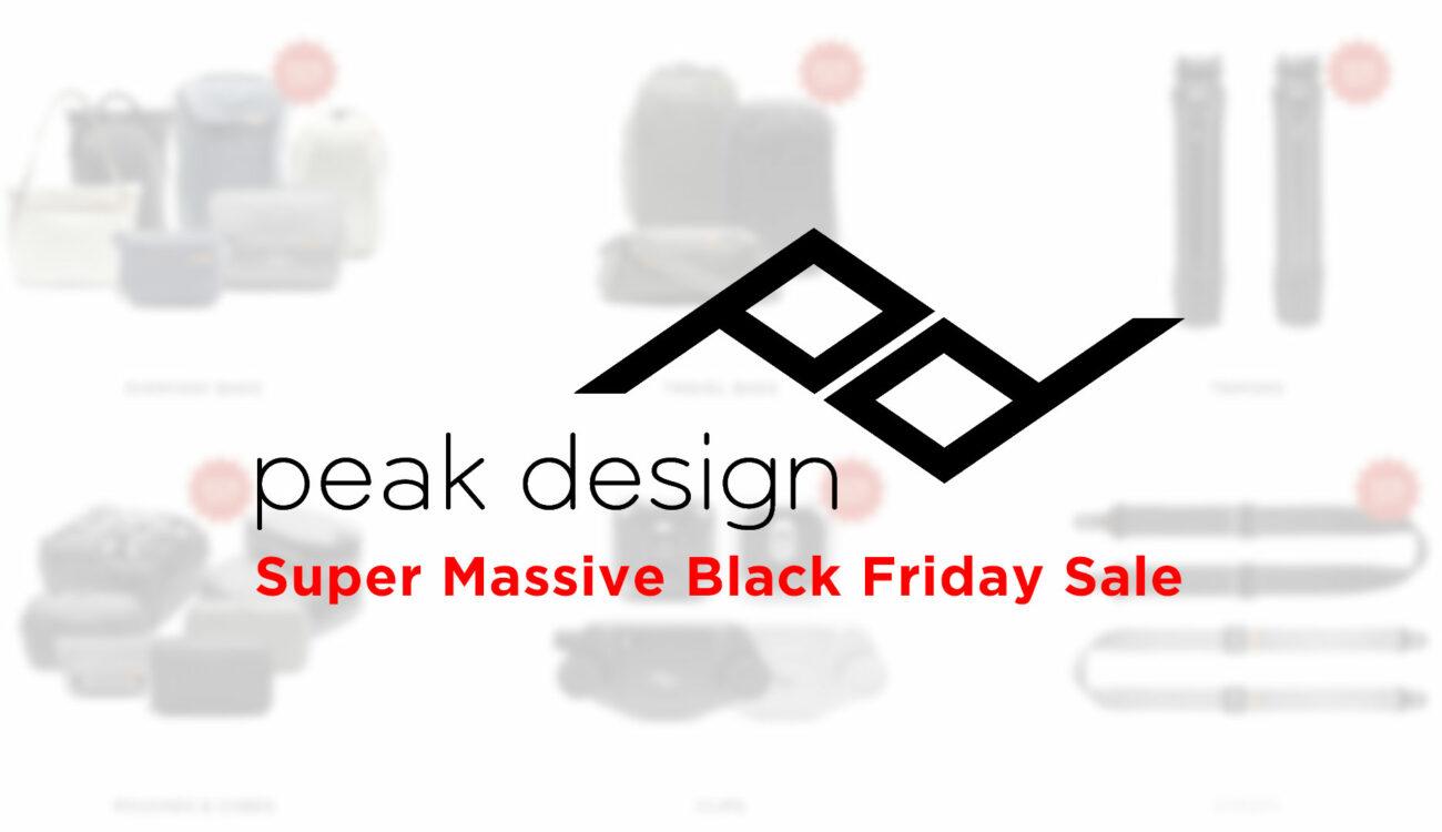 Peak Design Super Massive Black Friday Sale - Up to 20% Off